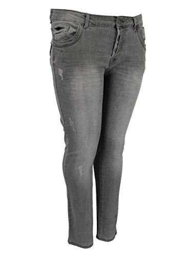 No Secret Hose Jeans grau Denim Used Größe 54