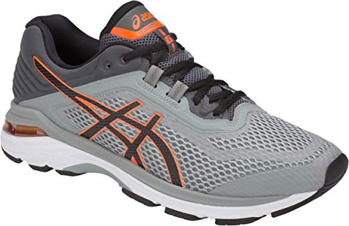 ASICS GT-2000 6 Men's Running Shoe, Stone Grey/Black, 10 M US