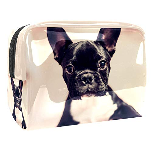 Maquillage Cosmetic Case Multifunction Travel Toiletry Storage Bag Organizer for Women - Cute French Bulldog