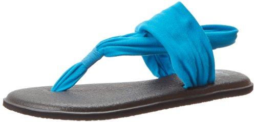 Sanuk Sanuk Damen Yoga Sling 2 Solid Vintage Flip-Flop Sandale, Ocean, 39 EU