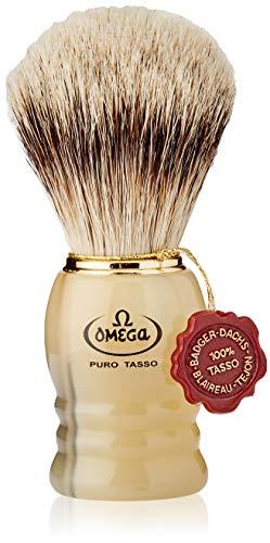 Omega 620 - Pennello da Barba in Puro Tasso Beige