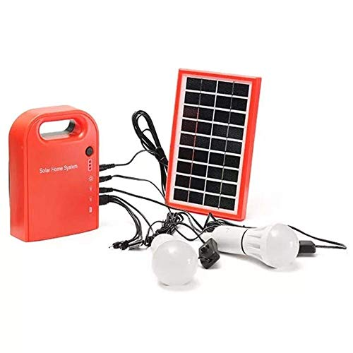 CKQ-KQ Buitenverlichting Portable grote capaciteit Solar Power Bank Home System Panel met 2 LED-lampen for Camping Light Emergency waterdichte Lamp