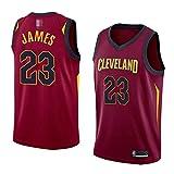 Jerseys De Baloncesto De Los Hombres, NBA Cleveland Cavaliers # 23 Lebron James - Comodidad Clásica Chalecos Transpirables Camiseta Uniformes Deportivos Tops,Marrón,XL(180~185CM)