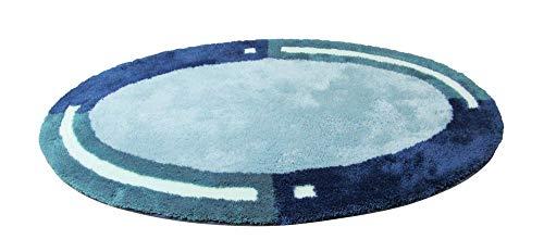 Clarissa Badteppich Imola Türkis hell mittel taubeblau ca. 60x100 cm Badematte Badezimmerteppich Badgarnitur Badvorleger Duschmatte