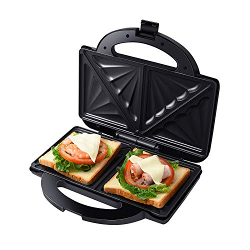 Auertech Sandwicherie, grille-pain et panini électrique Machine à fromage grillé à omelette avec très grandes assiettes antiadhésives, voyants lumineux, poignée Cool Touch (double sandwich)