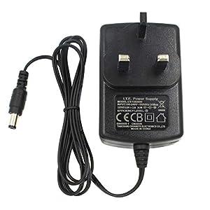 AC to DC 12V 2A Power Adapter Supply, Plug 5.5mm x 2.1mm, for CCTV Cameras DVR NVR LED Light Strip UK