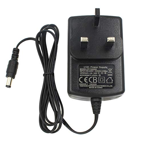 AC to DC 12V 2A Power Adapter Supply, Plug 5.5mm x 2.1mm, for CCTV Cameras...