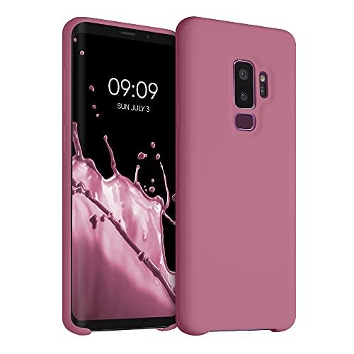 kwmobile Carcasa Compatible con Samsung Galaxy S9 Plus - Funda de Silicona para móvil - Cover Trasero en Rosa Antiguo