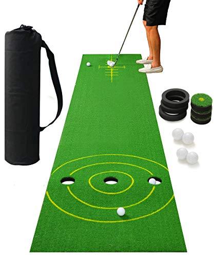 2-FNS Golf Putting Mat Game Set, Golf Putting Green Game Set with 4 Golf Balls,Golf Training Mat for Indoor Outdoor