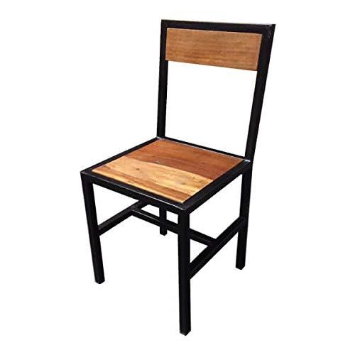 MATHI DESIGN Chaise de Repas Bois et Acier