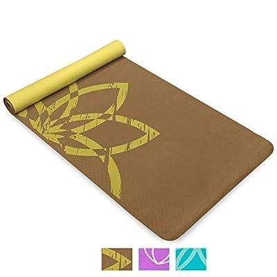 Life Energy 4mm TPE EkoSmart Yoga Mat with Carrying Strap - Terra Life
