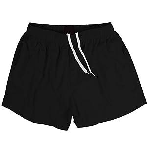 ランニングパンツ メンズ ナイロン 短パン スポーツ ストレッチ ショートパンツ 軽量 ランパン ジムウェア 多色 通気性 XL ブラック