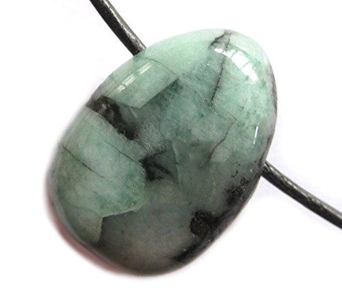 Trommelstein gebohrt Smaragd 2,5-3 cm