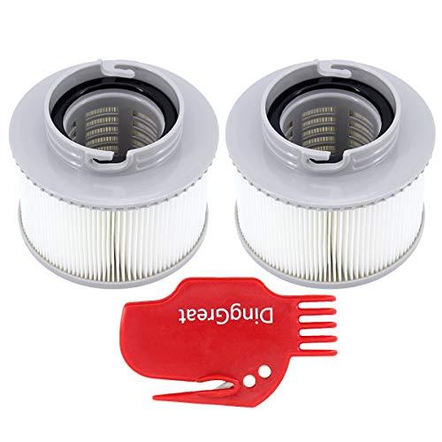 DingGreat 2 Stück Whirlpool Filter Kartusche, Ersatz Filter Kartusche für MSPA FD2089 Aufblasbar Schwimmbad Heilbäder Filter