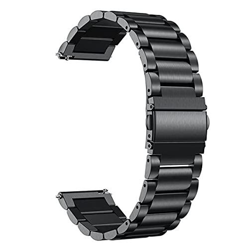 Nihlsen Banda de Acero Inoxidable de 22 mm de Ancho para Samsung Gear S2 S3 Galaxy Correa de Reloj Deportiva Pulsera de Metal Banda de Reloj clásica