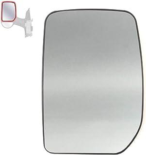 Censhaorme Reemplazo Frontal del Lado Izquierdo del ala Espejo retrovisor de Cristal para Ford Transit 2000