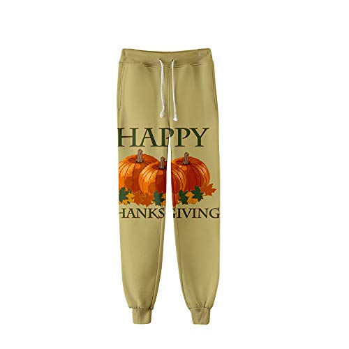 MLX-BUMU Trekkoord Pocket Training Sweatpants Joggingbroek Herenbroek Unisex leuk patroon