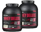 Body Attack Extreme Whey Protein Deluxe, Vanille Cream, 2 x 2,3kg Dosen Eiweißpulver