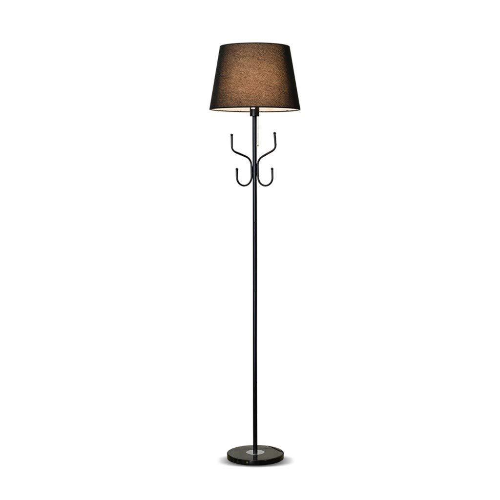 Kokoon FL00010BL Lampe de Sol Design Lounge Noir en Tissu