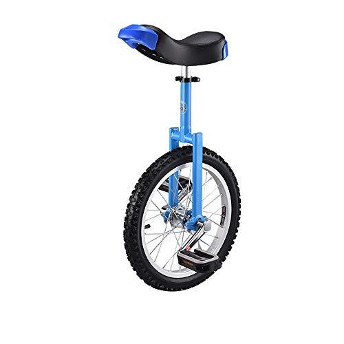 YYAO Einrad für Jugendliche, Anfänger, 16 Zoll Rad, mit Alufelge blau