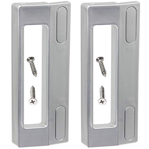Spares2go Universal-Türgriffe für Kühl- und Gefrierschrank, Tür-Griffe, 190 mm, Silber/grau