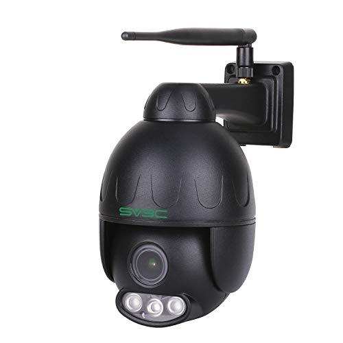 SV3C Telecamera Wi-fi Esterno Senza Fli 1080P PTZ IP Camera con Zoom Ottico 5X, IP66 Impermeabile, 50M Visione Notturna, Supporta TF Card da 128G, Vista a Distanza via Smart Phone Tablet PC Windows