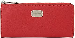Michael Kors Red Leather For Women - Zip Around Wallets