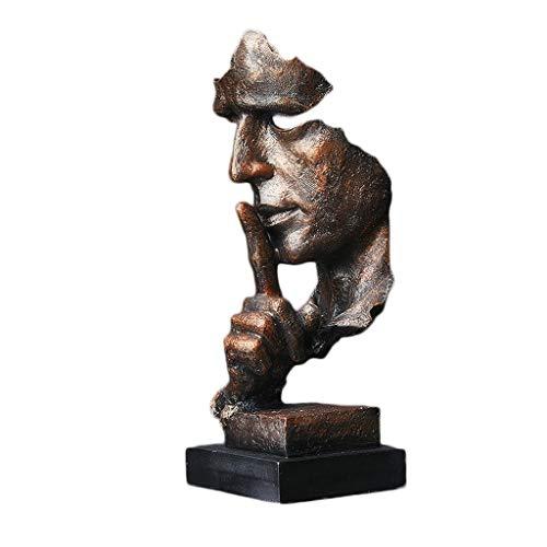Skulptur Kupfer Dekoration-Harz-Desktop-Kunsthandwerk Büroinnendekoration Studie Weinklimaschrank Wohnzimmer Multifunktions 34X13X12cm XMJ