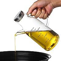 グラス オリーブオイルディスペンサーボトル、ノンドリップスパウト 食用油ボトル サラダ ドレッシング クリュット お酢 容器 ために キッチン バーベキュー ホーム (Color : Stainless steel, Size : 550ml)