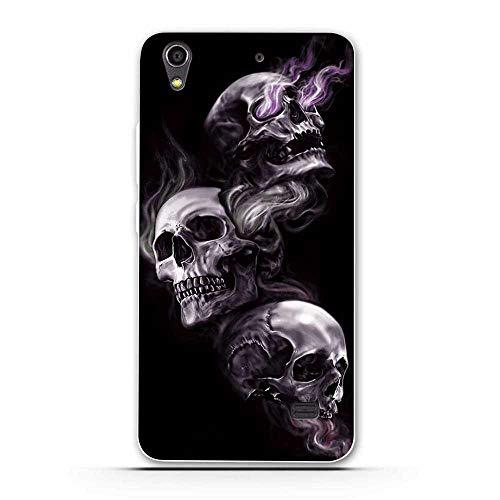 PELAN Cajas del Teléfono Móvil Funda De Silicona Suave TPU para Huawei Honor 4 Play G620S Funda De Teléfono Trasera para Huawei Ascend G620S Impresión Pintada Shell 6