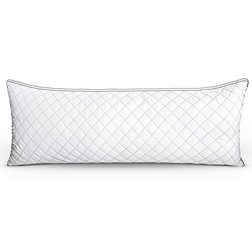 Luxury Full Body Pillow, Polyester Bed Pillows,Adjustable Soft Body Pillow,Suitable for Various Postures Sleeping Pillows, 20 Inches x 54 Inches (White)