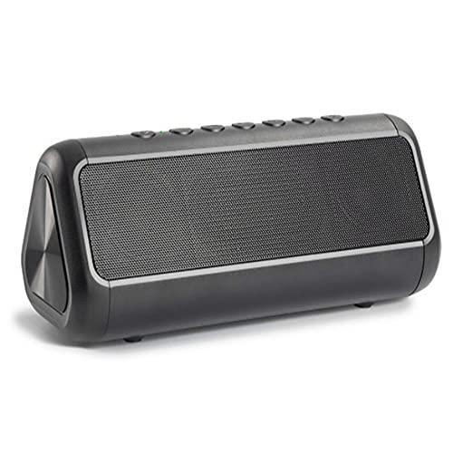 JDC01 Altavoz inalámbrico solar impermeable IPX5 doble bocina altavoz al aire libre TF tarjeta Bluetooth compatible subwoofer