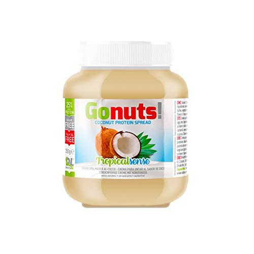 Daily Life Gonuts TropicalSense - Crema Spalmabile - Con il 25% di Proteine del Siero Del Latte Senza Olio di Palma e Zuccheri Aggiunti - 350 gr (Cocco)