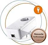 devolo Magic 1 LAN: Stabiles Arbeiten im Home Office, Leistungsfähiger Powerline-Erweiterungs Adapter mit bis zu 1200 Mbit/s für das Heimnetzwerk, mit integrierter Steckdose