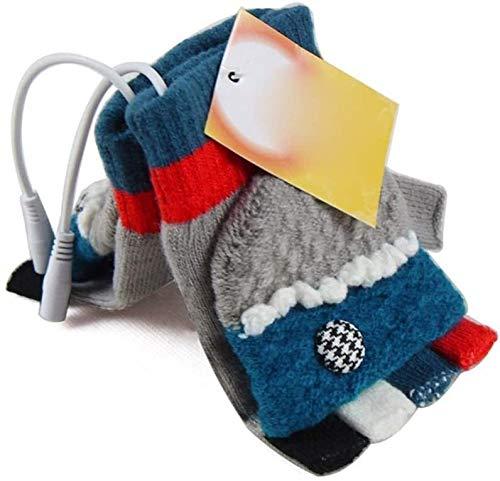Guantes calentados Los guantes con calefacción eléctrica recargable USB for las mujeres for interior-exterior calentador de la mano del guante de revestimientos for la escalada Senderismo Ciclismo inv