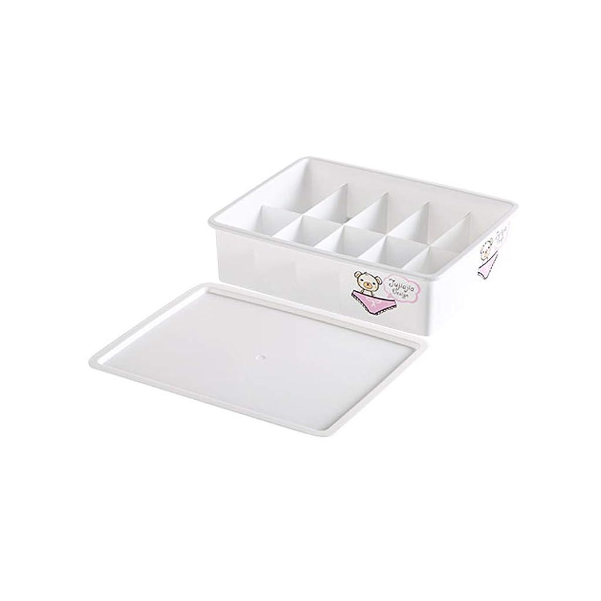 休日陪審ピービッシュMXD 収納ボックスパンティー収納ボックスプラスチック衣類おもちゃ収納ホームドミトリーベッドルーム (Color : White)