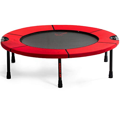 Classic Rebounder by Rebound Air | Foldable Mini Fitness Trampoline for Adults & Kids | Half-Fold Design w/Heavy Duty Springs for Indoor/Outdoor Exercise | Includes Workout DVD & Case (Red)