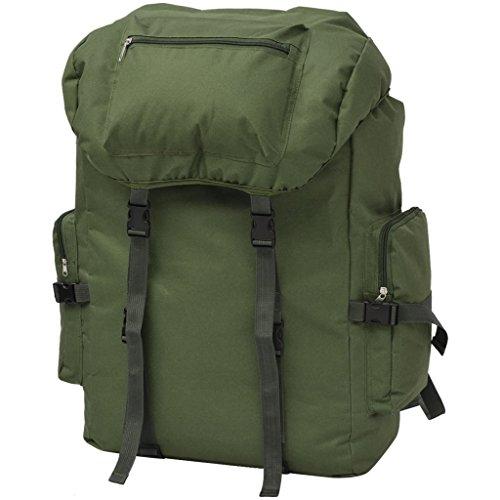 Festnight 65 L Armeerucksack Freizeitrucksack Backsack Rucksack aus 600D Polyester für Reisen Camping Wandern usw. - Grün