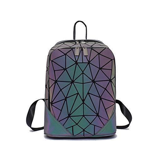 Geometric Backpack Luminous Backpacks Holographic Reflective Bag Lumikay Bags Irredescent Large Rainbow Purses Wallet Set NO.9