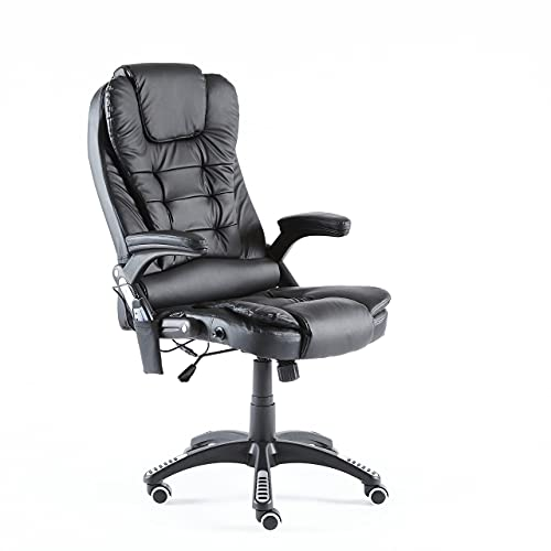 Neo® Executive PU Faux Leather Gaming Computer Desk Office Swivel Massage Reclining Chair (Black)