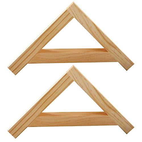 2 Unids Soporte de Triángulo de Madera Maciza,Escuadras Estanterias Montado en la Pared,Soporte de Estante de Pino,Sin Barnizar,para Sala de Estar,Cocina,Dormitorio,Comedor(30x30cm)