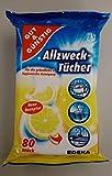 Feuchte Reinigungstücher in Spenderverpackung 240 Stück - 3er Pack (Inhalt 3 x 80 Stück) - Mit frisc…