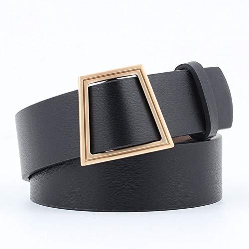 QUQIUB Beste Vrouwen Riem Nieuwe Trapezoïde Metalen Ring Gesp Brede Taille Riem Vrouw Zwart Kwaliteit Voor Jurk Jeans Vrouwelijke Tailleband Riem