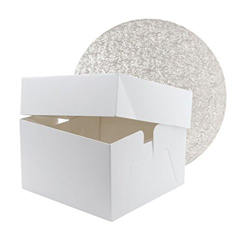 bakery direct - Caja para Tartas y Tambor Redondo de 30 cm con una Bolsa para tuberías Free y envío rápido. !