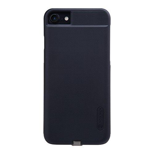 Custodia ricevitore wireless per iPhone 7, Custodia di ricarica senza fili Qi Custodia posteriore protettiva con connettore Lightning [Compatibile con supporto magnetico] per iPhone 7 4.7 '' - Nero