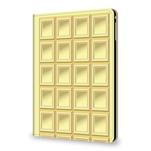 +S iPad mini4 7.9 ケース チョコレート 板チョコ TYPE2 ホワイトチョコ PUレザー 三つ折スタンド 0023-08