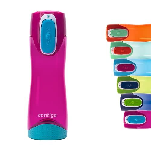 Contigo Trinkflasche Swish Autoseal, große BPA-freie Kunststoff Wasserflasche, auslaufsicher, für Sport, Fahrrad, Joggen, Wandern, 500 ml, Magenta