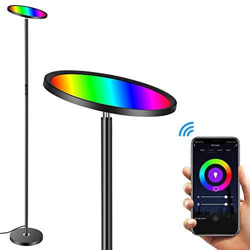 Floor Lamp, HueLiv Super Bright RGBW Smart WiFi LED...