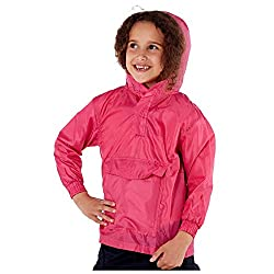 Children Shower Resistant Pac a Mac Easily Folds Away Into Front Pouch Lightweight & Breathable Large Front Pocket Perfect For School Trips and The Great Outdoors