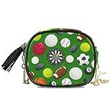 DXG1 Sport Ball - Mini bolso bandolera para mujer con borla, color verde